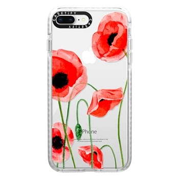 Impact iPhone 8 Plus Case - Red poppies