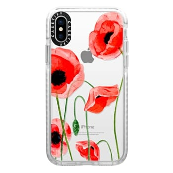 Impact iPhone X Case - Red poppies