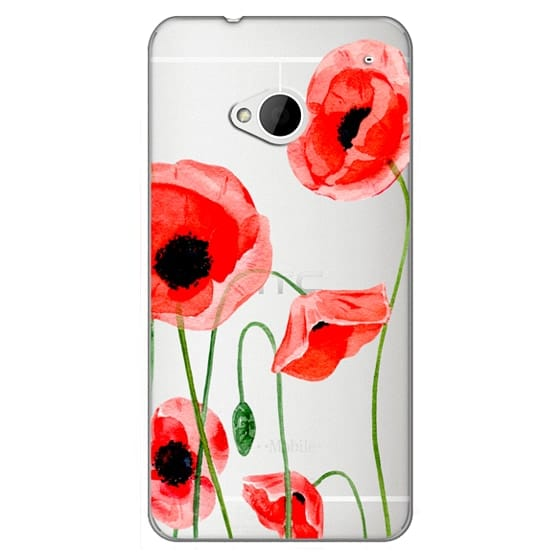 Htc One Cases - Red poppies