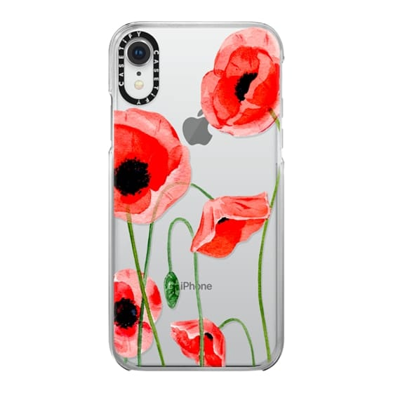 iPhone XR Cases - Red poppies