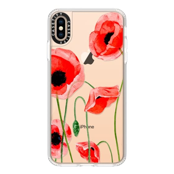 iPhone XS Max Cases - Red poppies