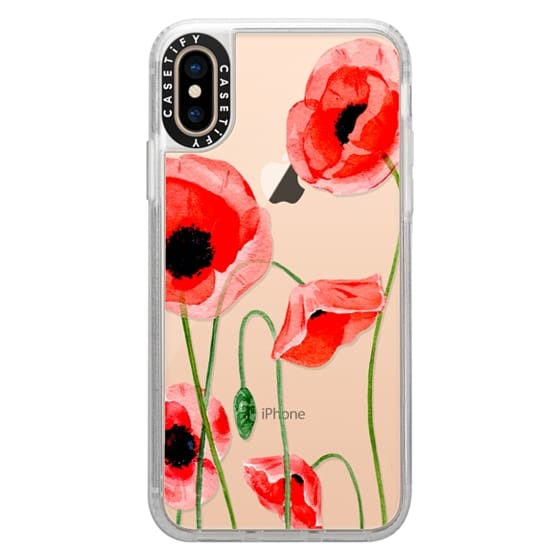 iPhone XS Cases - Red poppies