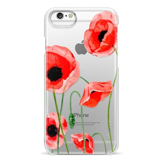 iPhone 6 Cases - Red poppies