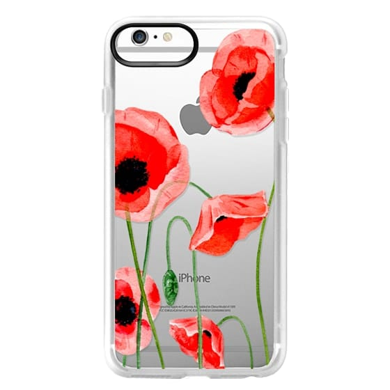 iPhone 6s Plus Cases - Red poppies