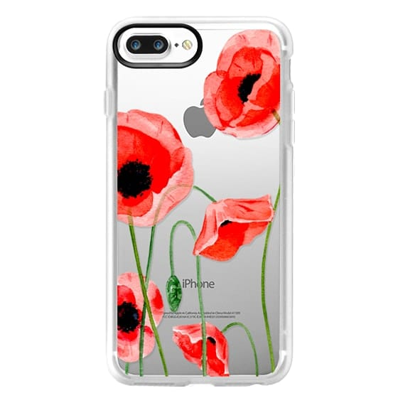 iPhone 7 Plus Cases - Red poppies
