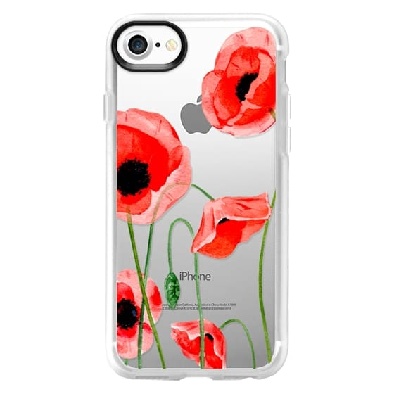 iPhone 7 Cases - Red poppies