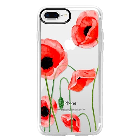 iPhone 8 Plus Cases - Red poppies