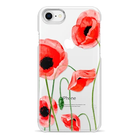 iPhone 8 Cases - Red poppies