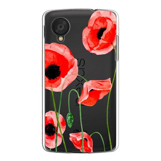 Nexus 5 Cases - Red poppies