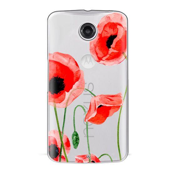 Nexus 6 Cases - Red poppies