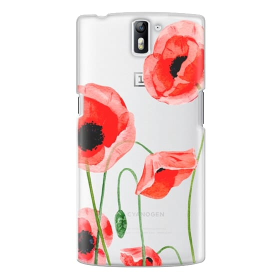 One Plus One Cases - Red poppies