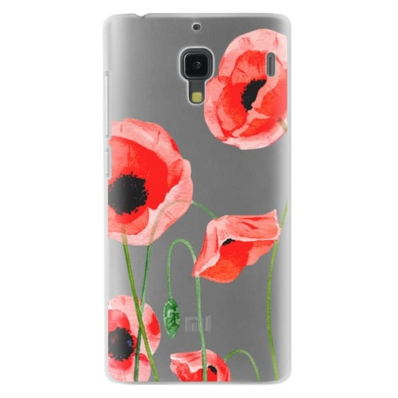 Redmi 1s Cases - Red poppies