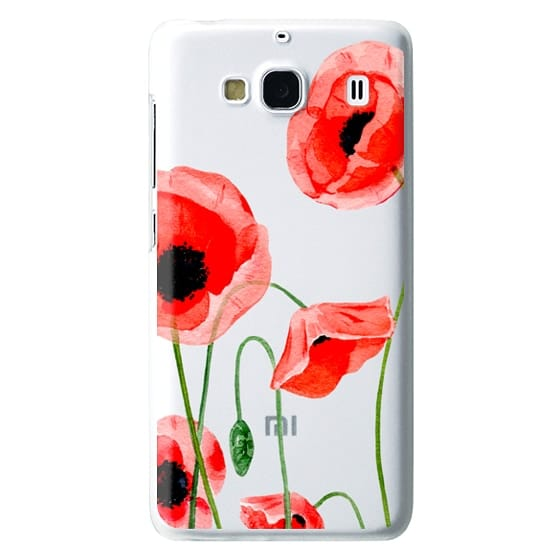 Redmi 2 Cases - Red poppies