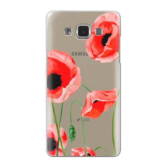 Samsung Galaxy A5 Cases - Red poppies