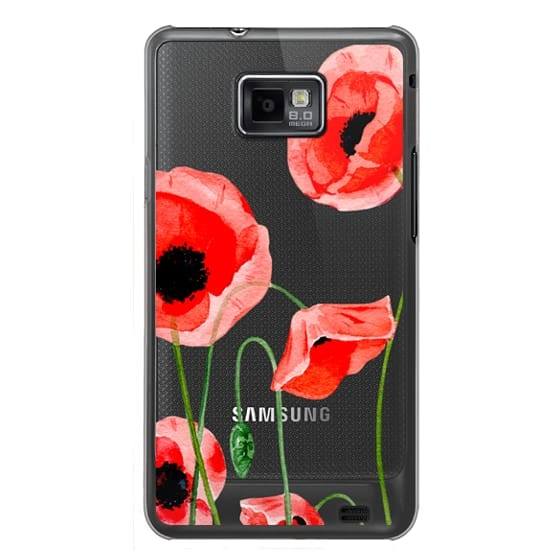 Samsung Galaxy S2 Cases - Red poppies