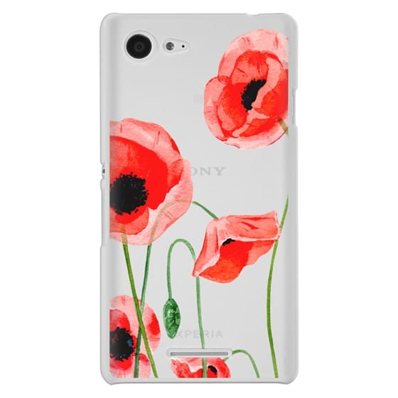 Sony E3 Cases - Red poppies