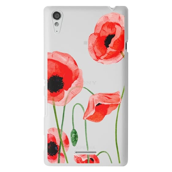 Sony T3 Cases - Red poppies