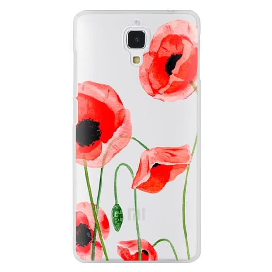Xiaomi 4 Cases - Red poppies