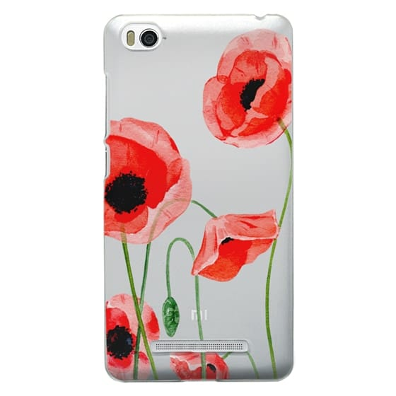 Xiaomi 4i Cases - Red poppies