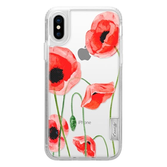 iPhone X Cases - Red poppies