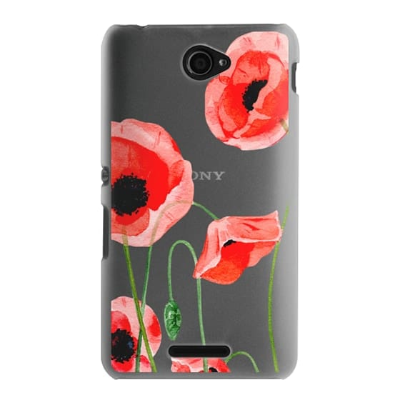 Sony E4 Cases - Red poppies