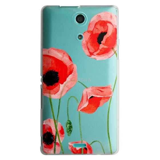 Sony Zr Cases - Red poppies