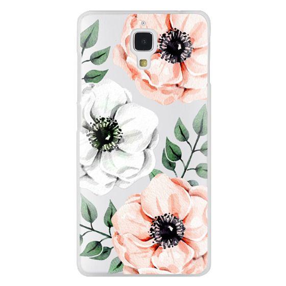 Watercolor anemones