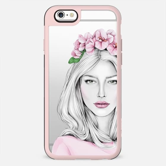 Spring girl with orchid - New Standard Case