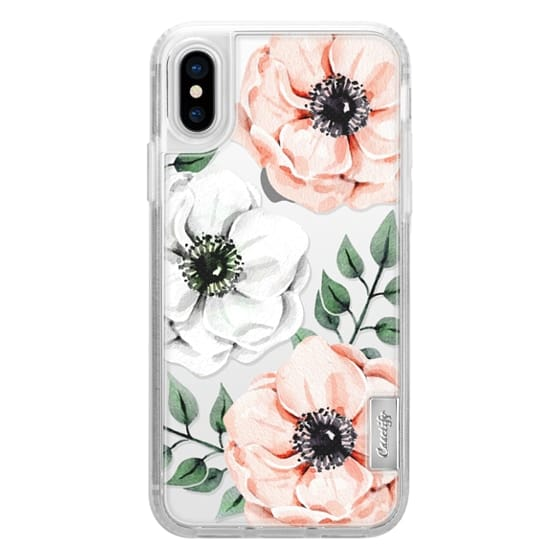 iPhone X Cases - Watercolor anemones
