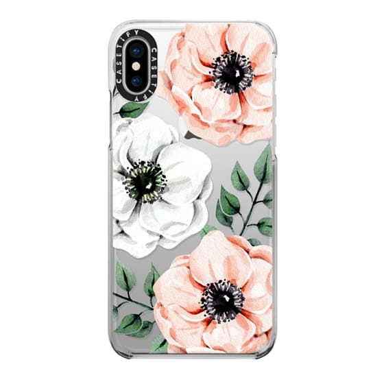 iPhone X Cases - Watercolor anemones
