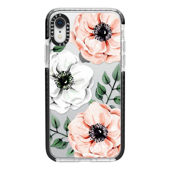 iPhone XR Cases - Watercolor anemones