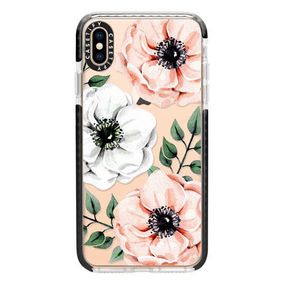 iPhone XS Max Cases - Watercolor anemones