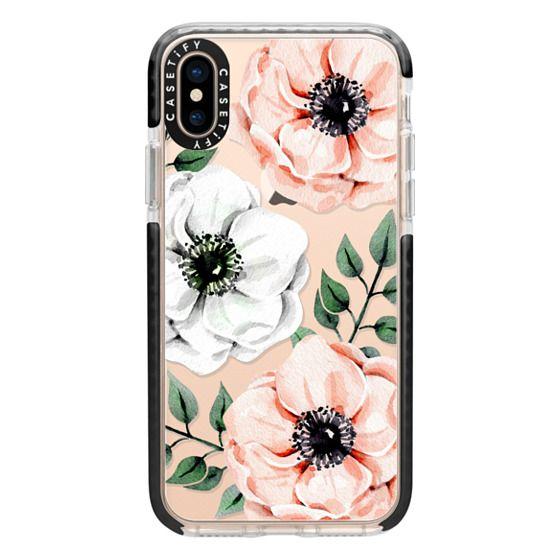 iPhone XS Cases - Watercolor anemones