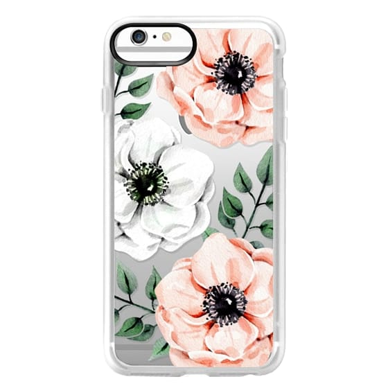 iPhone 6 Plus Cases - Watercolor anemones