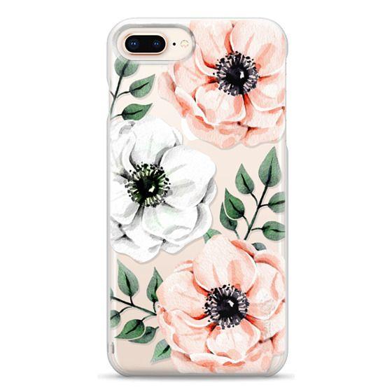 iPhone 8 Plus Cases - Watercolor anemones
