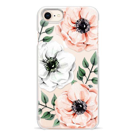 iPhone 8 Cases - Watercolor anemones