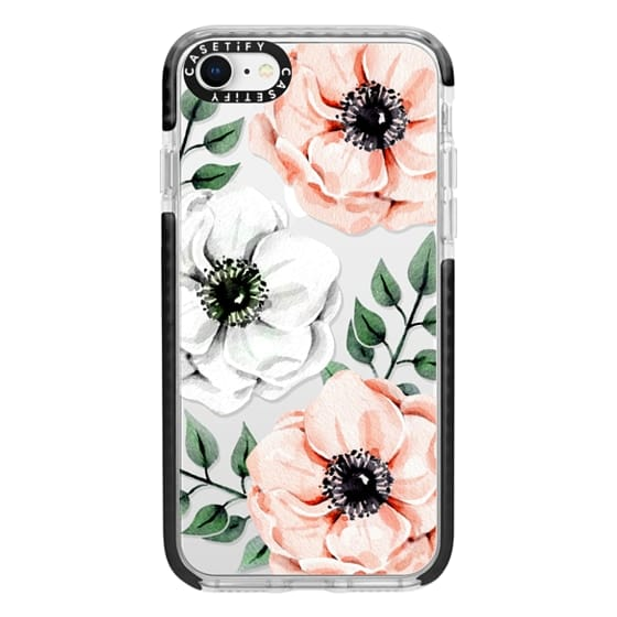 iPhone 8 Cases - Watercolor anemones