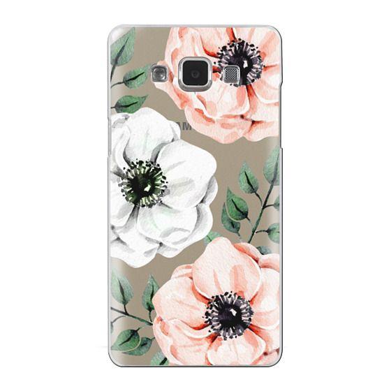 Samsung Galaxy A5 Cases - Watercolor anemones