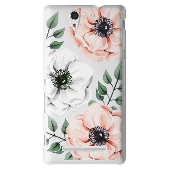 Sony C3 Cases - Watercolor anemones