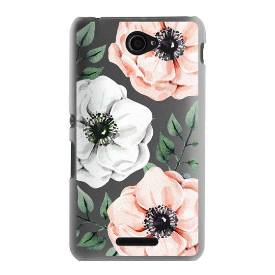 Sony E4 Cases - Watercolor anemones