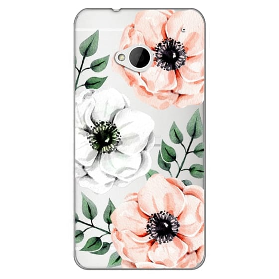 Htc One Cases - Watercolor anemones