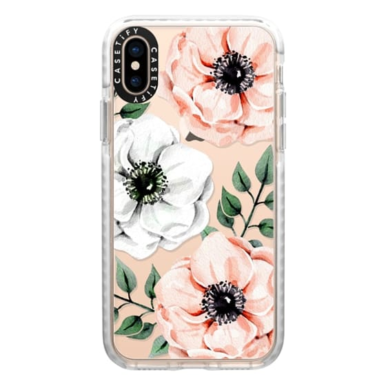 iPhone XS Cases - Watercolor anemones