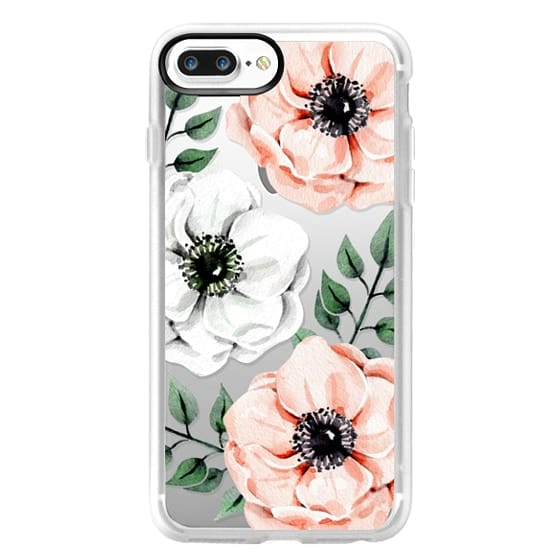 iPhone 7 Plus Cases - Watercolor anemones