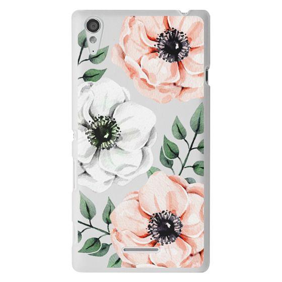 Sony T3 Cases - Watercolor anemones