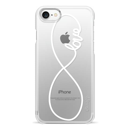iPhone 7 Cases - Love x Infinity (Vertical White)