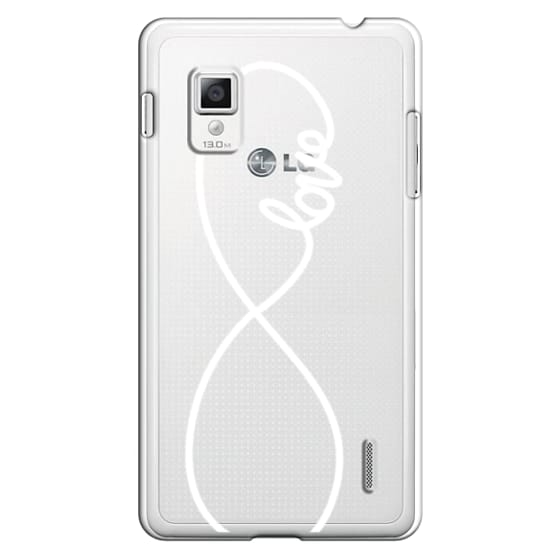 Optimus G Cases - Love x Infinity (Vertical White)