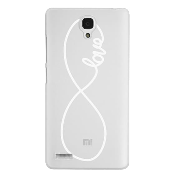 Redmi Note Cases - Love x Infinity (Vertical White)