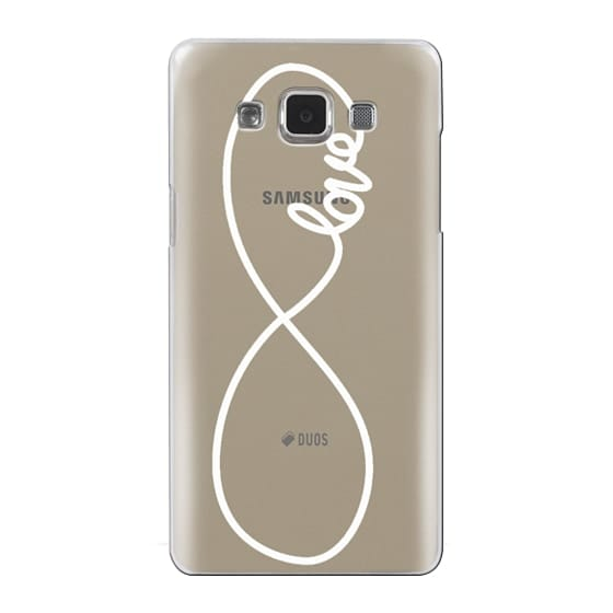 Samsung Galaxy A5 Cases - Love x Infinity (Vertical White)