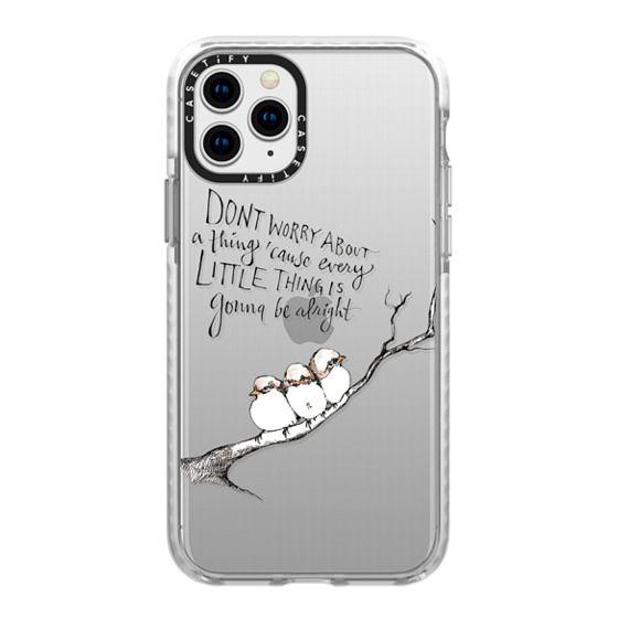 iPhone 11 Pro Cases - Three Little Birds Transparent