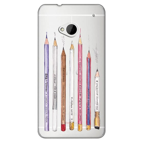 Htc One Cases - PENCILS TRANSPARENT